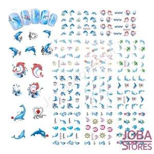 Nagel Sticker Set Dolfijnen (220 stickers)