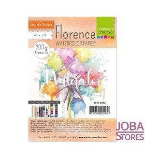 "Aquarelpapier ""Florence"" ivoor smooth 200g A5 (24 stuks)"