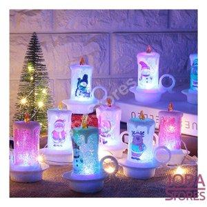 Mini Led Kerst Kaars Assorti (4 stuks)