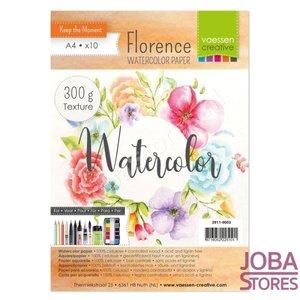"Aquarelpapier ""Florence"" ivoor texture 300g A4 (10 stuks)"