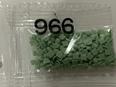 Nummer 966 vierkante steentjes (klein)