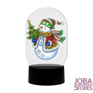 Diamond Painting 3D Illusie Lamp Kerst (Sneeuwpop)