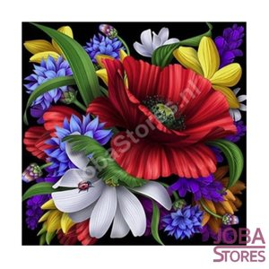 Diamond Painting Kleurrijke Bloemen 30x30cm