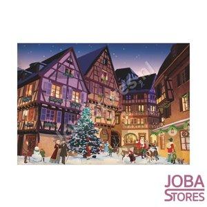 Puzzel Vintage Kerstdorp (1000 stukjes, 44x67cm)