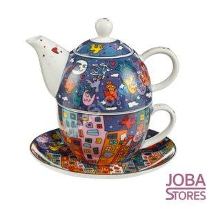 "Pop Art - Tea for One James Rizzi - ""City Birds"""