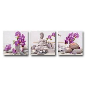 Diamond Painting Buddha Orchidee 90x30cm