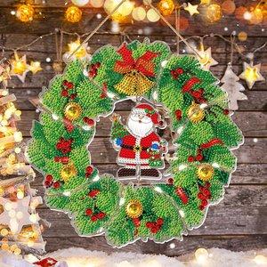 Diamond Painting Kerst Krans met verlichting 001