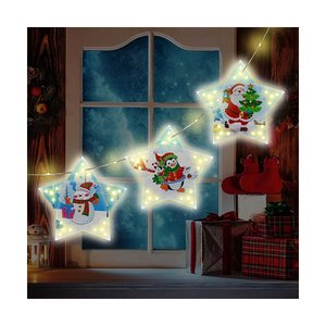 Diamond Painting Kerst Lampen Slinger 01