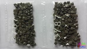 Nummer 3787 vierkante steentjes (klein)