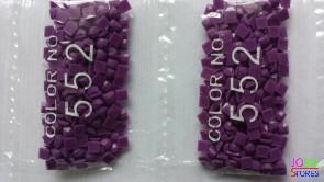 Nummer 552 vierkante steentjes (klein)