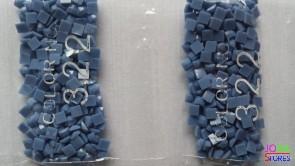 Nummer 322 vierkante steentjes (klein)