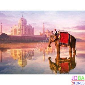 OP=OP Diamond Painting Taj Mahal Olifant 50x40cm