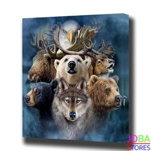 Diamond Painting Wild Animals 40x50cm