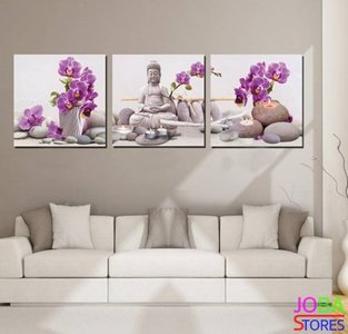 Diamond Painting Buddha Orchidee 120x40cm