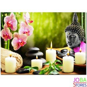 OP=OP Diamond Painting Buddha Kaarsen 40x30cm