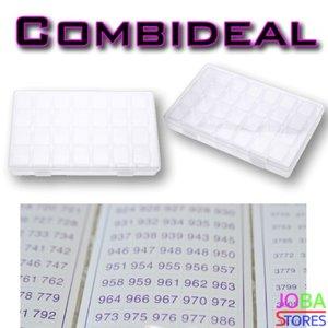Diamond Painting Sorteerdoos Combideal 28 slots (2 stuks + DMC stickers)