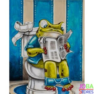 Diamond Painting Toilet Kikker 01 30x40cm - rond