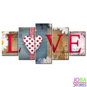 "Diamond Painting ""JobaStores®"" Love 5 luiks - volledig - 100x50cm"
