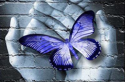 Diamond Painting Handen Blauw 40x30cm
