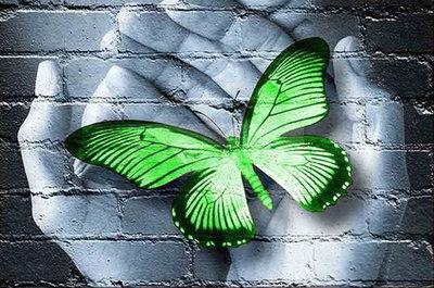 OP=OP Diamond Painting Handen Groen 40x30cm