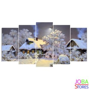 "Diamond Painting ""JobaStores®"" Winterhuis 75x40 (FULL)"