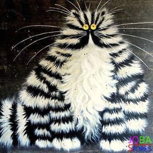OP=OP Diamond Painting Crazy Cats 02 30x30cm