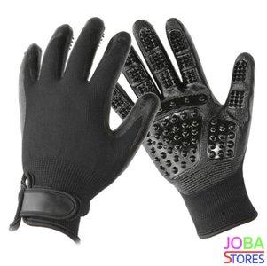 OP=OP Katten/Honden Grooming Handschoenen Zwart (1 paar)