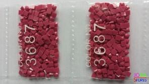 Nummer 3687 vierkante steentjes (klein)