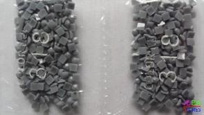 Nummer 318 vierkante steentjes (klein)