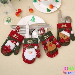 Kerst Bestekhouders Assorti (4 stuks)