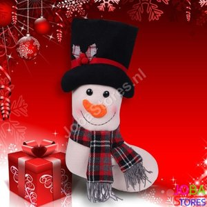 OP=OP Kerst Sok Sneeuwpop (48cm)