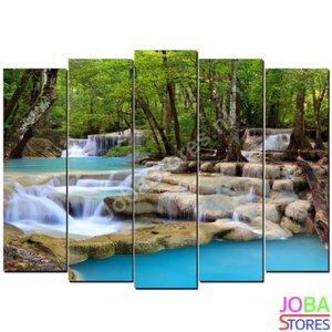 Diamond Painting Waterval 5 luiks 100x55cm