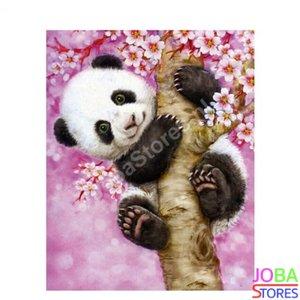 Schilderen op nummer Panda 40x50cm