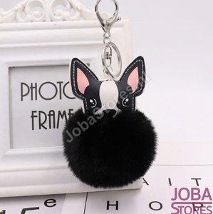 OP=OP Pom Pom Sleutelhanger Hond Zwart