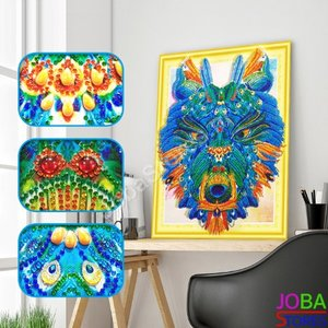 OP=OP Diamond Painting *Special* Wolf 001 40x50cm - incl. frame