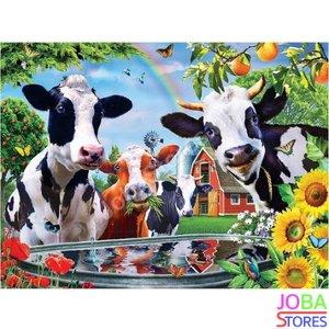 Diamond Painting Vrolijke Koeien 40x50cm