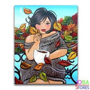 Diamond Painting Dikke Dames 21 40x50cm