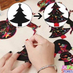 Kras Tekeningen Kerst Hangers (24 delig)