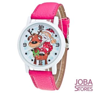OP=OP Kerst Horloge 01 Roze