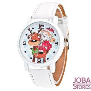 OP=OP Kerst Horloge 01 Wit
