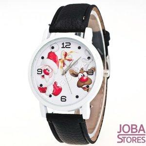 Kerst Horloge 02 Zwart