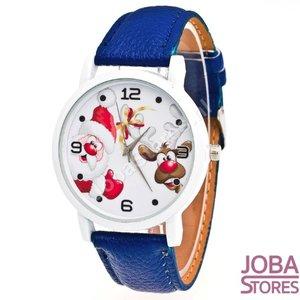 Kerst Horloge 02 Blauw
