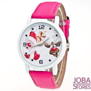 Kerst Horloge 02 Roze