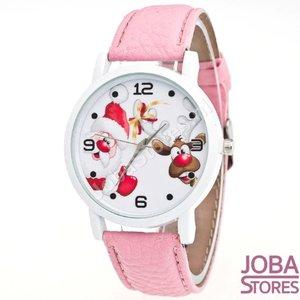 OP=OP Kerst Horloge 02 Licht Roze