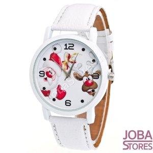 Kerst Horloge 02 Wit