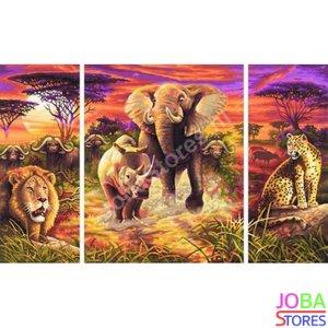 OP=OP Diamond Painting Afrika 3 luiks 80x50cm