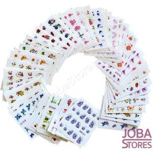 Nagel Sticker Set Glitter & Bloemen (55 vellen)