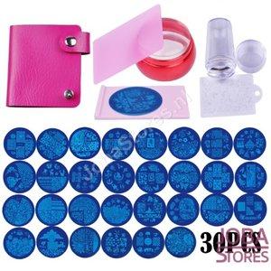 Nagellak Stempel Set (30 stempelplaten) inclusief opbergmap