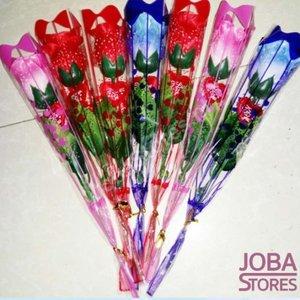 Led Rozen Combi Blauw, Rood, Roze (3x 6 stuks)