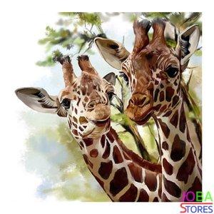 Diamond Painting Giraf 40x40cm